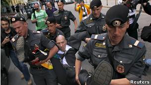 Detenciones en Moscú