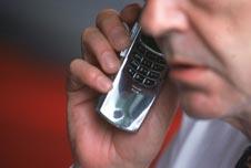 a man making a phone call