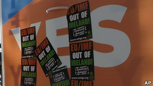 propaganda electoral en referendum irlandés sobre pacto fiscal europeo