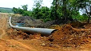 建设中的中缅油气管道