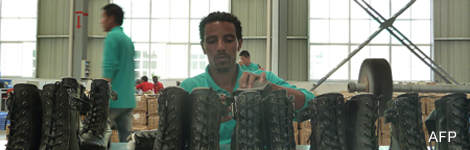 Young workers in Ethiopian factory