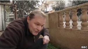 Paul Wood na Síria em fevereiro. | Foto: BBC