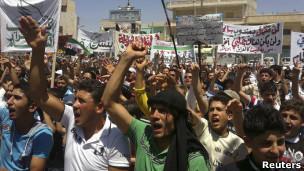 تظاهرات مخالفان اسد
