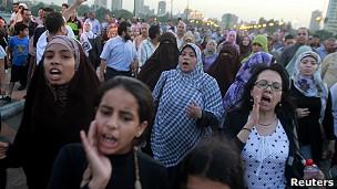 Manisfestación en Egipto