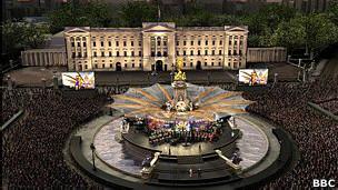 Сцена у Букингемского дворца