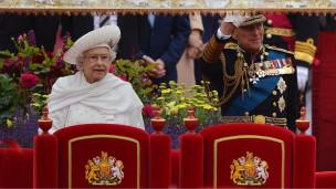 الملكة خلال احتفالات اليوبيل الماسي