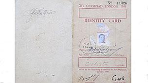 Carné olímpico de  Julio César León