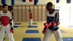 Diogo Silva em treinamento