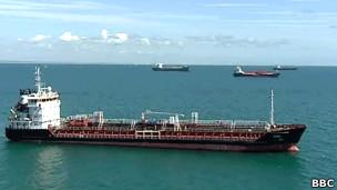 تانکر حامل نفت ایران