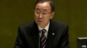 بان کی مون، دبیرکل سازمان ملل