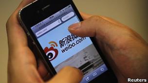 Trang microblog Weibo trên điện thoại di động