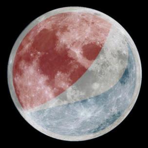 Луна в цветах Pepsi