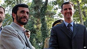 Ahmadinejad e Assad