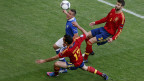 Italia melawan Spanyol di Piala Eropa 2012
