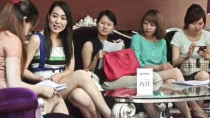 Participantes de concurso que vai selecionar esposas para milionários na China