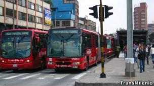 Buses del Transmilenio, Bogotá.