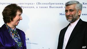 Catherine Ashton dan Saeed Jalili