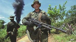 Operativo antidrogas en Colombia