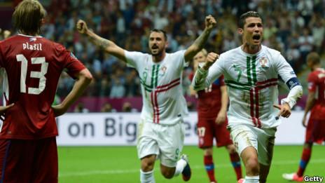 Bồ Đào Nha ăn mừng bàn thắng