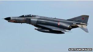Avión militar turco.