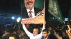 مظاهرة في شوارع غزة احتفالا بفوز مرسي