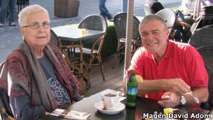 Paciente Katy almoça com marido (Foto Magen David Adom)
