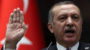 Thủ tướng Erdogan phát biểu trước Quốc hội ở Ankara hôm 26/6