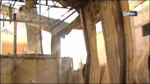 Hiện trường vụ tấn công đài truyền hình