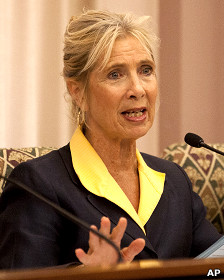 Prefeita de Stockton, Ann Jonhston | Crédito da foto: AP