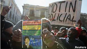 policias en huelga