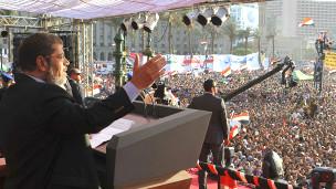 Morsi akizungumza kwenye medani ya Tahrir Ijumaa
