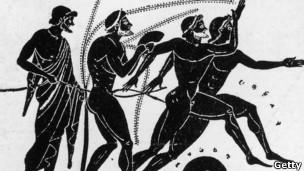 Ilustração das antigas Olimpíadas