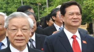 Tổng bí thư Nguyễn Phú Trọng và Thủ tướng Nguyễn Tấn Dũng