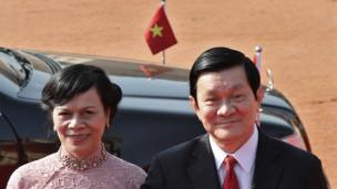 Ông Trương Tấn Sang và phu nhân