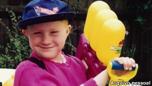 Vicky Forster aos oito anos (Foto: arquivo pessoal)
