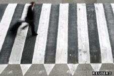 zebra crossing in Barcelona