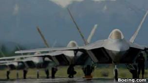 F22型战斗机是美军最先进的战斗机