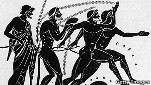 Cerámica de los Juegos Olímpicos del siglo V a.C.