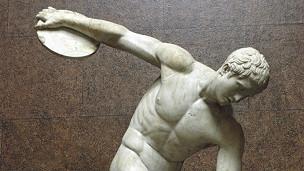 Estatua de un lanzador de disco
