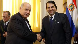 José Miguel Insulza y Federico Franco