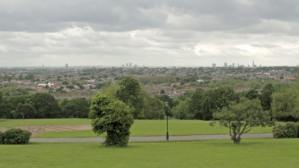 Vista do centro de Londres a partir do Alexandra Palace  (Foto: Terry Wilson / BBC Brasil)