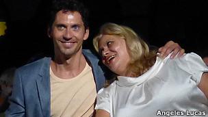 el director, Paco León y su madre, carmina, protagonista de la película