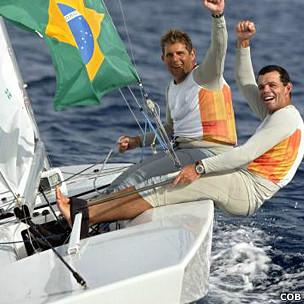 Torben Grael (d) e Marcelo Ferreira