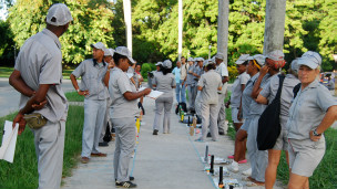Brigadas cubanos. Foto: Raquel Pérez