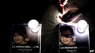 Protesta por la muerte de Daniel Zamudio