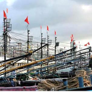 Đội tàu cá Trung Quốc trước khi ra khơi