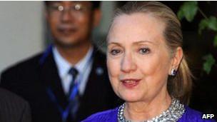 Hillary Clinton katika ziara yake ya karibuni barani Asia