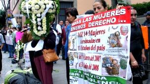 Protesta en defensa de derechos de mujeres en México