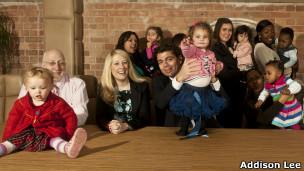 Funcionários da Addison Lee com os filhos (Foto divulgação)