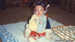Steve Pete quando criança (Foto: arquivo pessoal)
